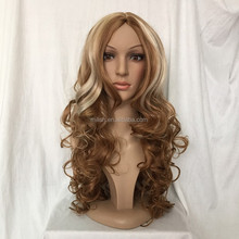 MFW-0088 top beauty wig brown long natural hair wig / fashion synthetic wig