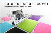 Slim Colorful Hot Pressing Magnetic Smart Leather Case For ipad2/ipad 4/New ipad