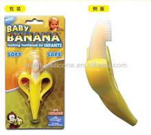Disney Approved Factory banana shape baby silicone bendable training toothbrush