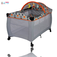 2014 Luxury ASTM F406 modern canopy in baby bed playpen for babies with toys bar and plastic adjustable best selling products