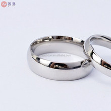 Custom Silver Plated Wedding Ring 316L Stainless Steel Ring Man