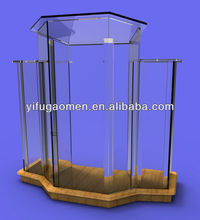 ASSEMBLY 3 tier construction clear acrylic church pulpit lectern Podium