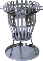 stainless steel round durable BBQ fire basket for patio use