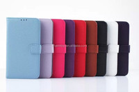 Litchi Leather Wallet Case For Google Nexus 6