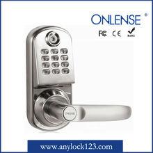 Electronic round security lock key with password keypad