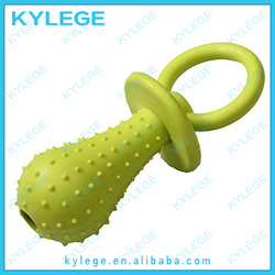 Yellow Silicone Bone Ball Shrimp Pet Chews For Dog