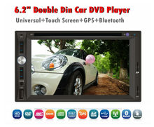 "6.2"" Double din in dash Car DVD Player with GPS Navigation built in bluetooth tv/ 6.2"" Double din Car DVD"