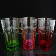 New design shape glassware new products with color spray