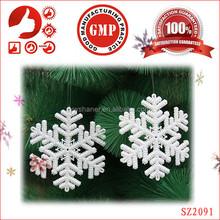 Bulksale decoration xmas accessories cheap Chrismas party snowflake design cheap party decorations