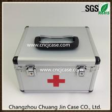 Small silver diamond pattern aluminum medical box