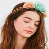 Wholesale hair accessory decorative artificial flower wreath