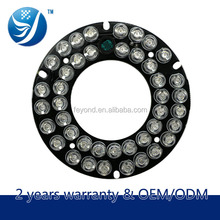 2015 new products in china led accessories 42pcs leds 63*33 dimension dome/bullet cctv pcb board infrared light lamp