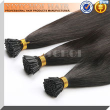 Russia hair 100% human hair remy i tip double drawn hair extensions