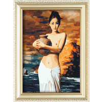 Wholesale nude womens oil painting hot sex images diy digital painting