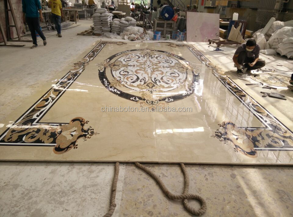 Tile Floor Medallionswater Cut Floor Medalliontile Round Mosaic