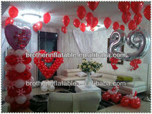 Just Married Heart Shaped Helium Quality Wedding Balloons