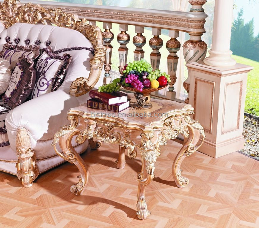 Luxury french baroque collection royal living room for Baroque living room furniture