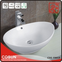 Chinese Ceramic One Piece Bathroom Vessel Sinks Countertops