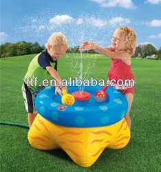 inflatable sprinkler table/attractive inflatable sprinkler or spray table for kids water fun