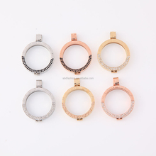 Stainless steel pendant setting Gold Plated Stainless Steel My imenso Coin Locket