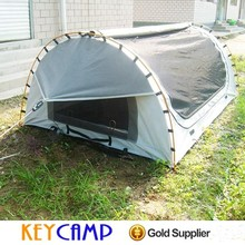 Doulble canvas fabric swags tent sleek design swags tent for sale