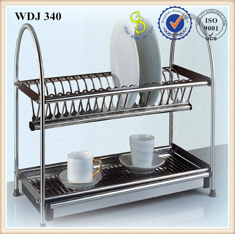 kitchen hanging metal dish drying rack stainless steel wall amount drainer guangzhou