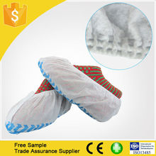Disposable Nonwoven Fabric Shoe Cover With Elastic Rubber Made In China