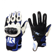 factory whole sale PVC knuckle protection leather gloves for motorcycle motorbike racing bike and dirt bike