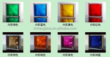 """8""""x8""""x3""""hollow glass block in Foshan Guangdong, clear glass brick price, stained glass block"""