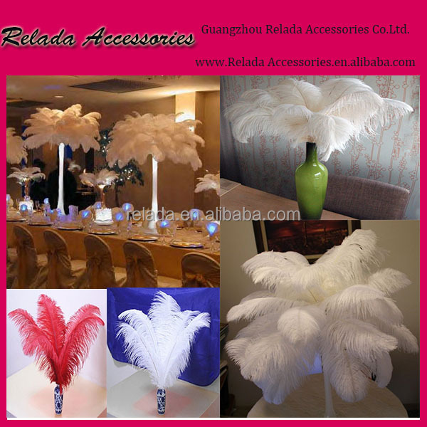 Wedding centerpieces decoration dyed red cheap ostrich