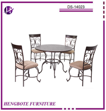 DS-14023 round dining table and chairs/dinette table with wooden top