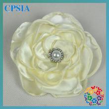"Ivory Pretty 5"" Poppy Cheap Wholesale Artificial Flowers Posh Petti Decorative Handmade Flowers For Dresses"