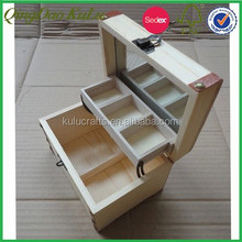classics wooden cosmetic box with cabinet and lock