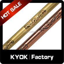 2015 popular window decor hardware curved pole, good electroplated metal swivel curtain rods, 10 years curtain rod factory