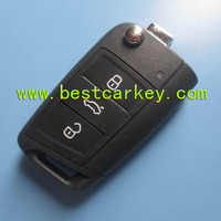 Excellent 3 button 433Mhz car key 959 753 BA with 48 chip for vw golf remote key