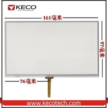 7 7.0 inch General 4 wire resistive 161*97 161mm*97mm for Eroda X10 touch glass digitizer Screen