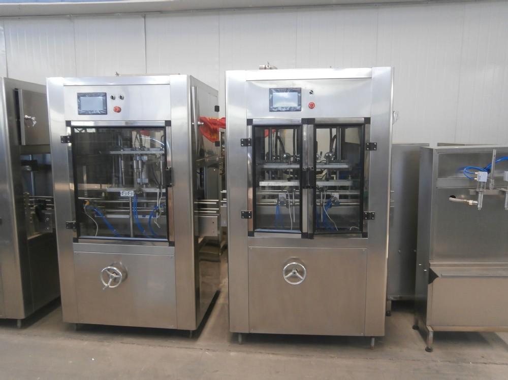 liquid filling machine , glass, pet, plastic bottle filling and packaging machine