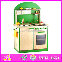 2015 New promotional wooden kitchen toy,intelligent wooden kitchen toy set WJ278615