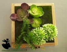 Fresh color artificial plants wall art