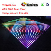 Professional Effect Tempered Glass LED Portable Dance Flooring