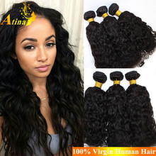 Grade 7A 100% Unprocessed Water Wave Virgin Hair Extensions Cheap Bundles Remy Brazilian Human Hair Wet And Wavy weave