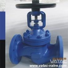 VATAC Handwheel Operated Cast Iron GG20/GG25/GGG50/GGG40 flanged ends Bellow Sealed Globe Valve Wenzhou Supplier