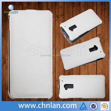 High quality thermoforming leather flip cover for HTC One Max waterproof flip case armor