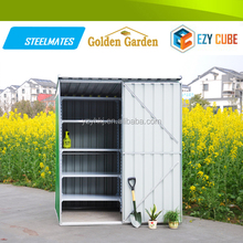 Disassemble diy mini house steel garden shed for outside house colors
