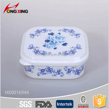 980ml square PP plastic food box with spoon and compartments