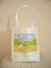 promotional green recycled luxury non woven tote bag