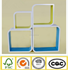 E1 MDF wooden wall cube shelf floating shelf