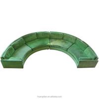 round mid century modern furniture U shape sectional sofa SF7142
