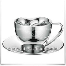Wholesale double wall stainless steel coffee espresso cups set