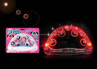 music plastic light up led flashing timbrel jingles for children MS36292206D